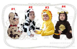 Wholesale Animal Monkey boy One Piece romper baby Rompers long sleeve romper yellow Lion Winter romper