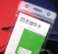 Wholesale mulit Vertical soft Waterproof ID Badge Holders PVC name card case certificate plastic Horizontal