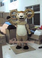 Wholesale Christmas Party Outfit Characters - adult size brown goat sheep mascot costume character costume party outfit drop shipping