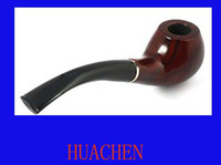 Wholesale 7470 Classic Wooden Smoking Tobacco Pipe with Pouch