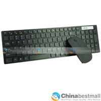 Wholesale High Quality Ghz Desktop Wireless Cordless Keyboard amp Optical Mouse Combos Kit for PC Mac Black