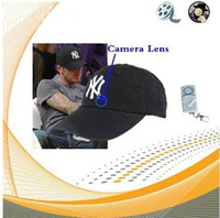 Wholesale hat cap camera GB flash MP3 remote control mini DVR capture video audio mini dv