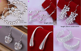 Wholesale 9 STYLE Korea NEW fashion jewelry mark silver beads grape earrings pairs l