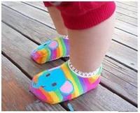 Wholesale Cute BUSHA Nonskid baby socks Nonslip Toddler Footgear Babys Shoe Sock kids Foot Cover