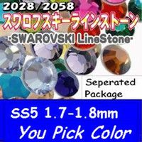 Wholesale Nail Rhinestones Common Colors U PICK ss5 mm Silver Foil Back Crystal hotsale