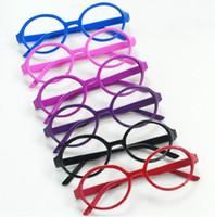 Wholesale children glass frame without eyeglass kids sunglass girls eye frames plastic Top many colors fashion