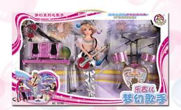 Descuento muñecas de la muchacha Lindo Casas de Muñecas de las Niñas Juguetes Set de Regalo de la música el cantante bobby bebé Envio Gratis