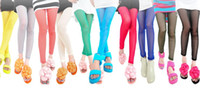 Wholesale Stylish Sexy Leggings Ninth Pants Tights Slim Mesh Thin Girl s Multicolour Elasticity Leggings Fashion Upper Memory