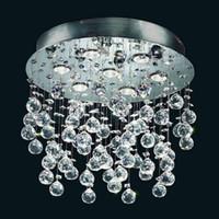 Wholesale Evrosvet Modern Light Crystal Glass Flush Mounted Rain Chandelier