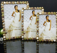Wholesale metal frame European classic oil drop of diamond mosaic picture frames albums wedding photo frames Bride gifts