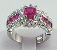 Wholesale womens ring ct ruby gemstone ring diopside rings solid k white gold
