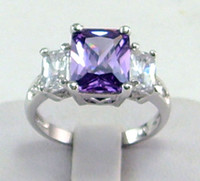 Wholesale womens ring ct Tanzanite gemstone ring diopside rings solid k white gold