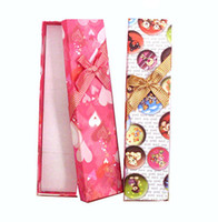 Wholesale So cool pies a Cartoon images beautiful long bow shaped jewelry gift box x4x3cm BZ