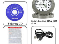 None   DHL Spy Camera Clock Motion Detection, 30FPS, Pinhole Lens DVR520