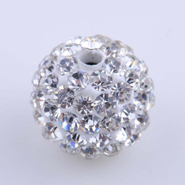 Wholesale 10mm Bright Crystal Micro Pave Disco Ball Bead Spacer Loose Rhinestone Beads Mixed