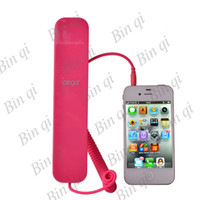 Wholesale New Arrival Selectable Color Radiation Protected wired Telephone for iPhone S Free DHL