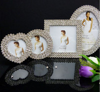 Wholesale 3 quot quot quot quot diamond mosaic alloy picture frames albums wedding photo frames Bride gifts