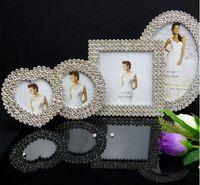 Wholesale frame quot quot quot quot diamond mosaic alloy picture frames albums wedding photo frames Bride gifts
