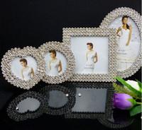 Wholesale metal frame quot quot quot quot diamond mosaic alloy picture frames albums wedding photo frames Bride gifts