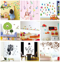 Removable PVC Plant Mix order 50x70cm Removable Wall Stickers Decals Mural Art Wall Sticker Decal Kids Nursery Decor