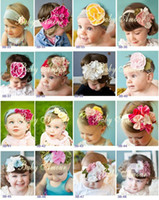Wholesale 48 styles Baby headbands baby amour flower Headband girls hair bands Children Hair Accessories
