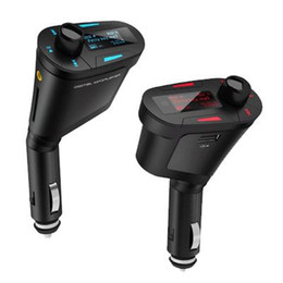 Wholesale Car MP3 Player Wireless FM Transmitter With USB SD MMC Slot simple Red Green Blue Light