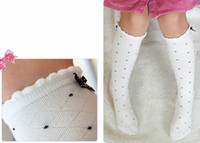 Wholesale winter stockings Childrens terry socks princess socks bow dot pattern socks girl towel socks