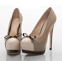 Women Pumps Platform Heel 2012 ViVi Recommend Sexy Patent PU High Platform Stiletto Dress Shoes 2 Colors
