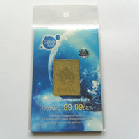 Wholesale lt RETAIL gt K Gold Plated Anti radiation Cell Phone Sticker OPP Bag Package Mobile Phone Patch
