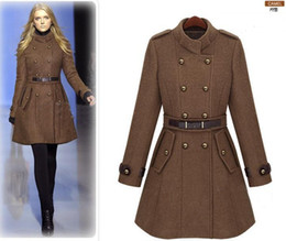 Wholesale 2013 new monde slim women s coats women s trench coats women s coats Women Outwear Brown woolen coat
