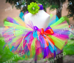 Wholesale Girl Tutu skirt Baby Toddler Tutu Skirt Birthday Tutu Custom Tutu set matching headband A352