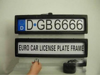525mm*135mm*25mm auto licenses - Plastic Steath Remote Auto Car Licence Plate Holder Car license Plate Frame EURO and Russia size