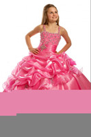 Floor-Length Strapless Organza New Arrival Best Selling Ball Gowns Princess Dresses for Little Girl Low Price Flower Girl Dresses