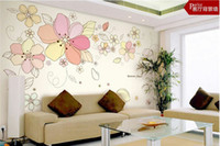 Wholesale Removable Romatic Flowers Decorative Wall Stickers PVC Bedroom Sticker cm
