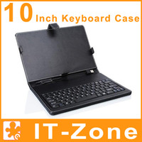 Wholesale Keyboard Leather case with USB Keyboard Bracket for inch Android Tablet PC Flytouch MID Black