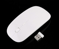 Wholesale 2 G Wireless Ultra Thin Optical Mouse Pure White USB For Laptop PC