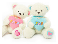 Wholesale pink blue teddy bears dolls stuffed animal plush toys Valentine s Day gifts lover inch