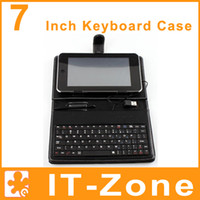 Wholesale Black USB Keyboard Leather Case Cover for Inch Tablet PC MID