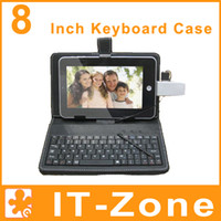 8 inch tablet case - Leather Case with USB Keyboard for inch Tablet PC Android MID