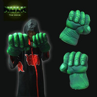 Wholesale 2x Incredible Hulk Hand Soft Plush Gloves Set Fashion Popular Classic Gloves Gift