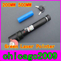 Wholesale Green Laser Pointers MW adjustable star burn match Li ion Battery charger Dropshipping