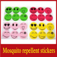 Wholesale 2000Sets Nature Anti Mosquito Repellent Insect Repellent Bug Patches Smiley Face Patches Baby Adult