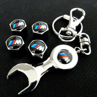 key cover - 10x Cartire pressure caps cover wrench key chain