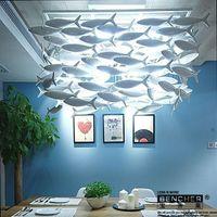 Wholesale BENCHER Simple fashion creative ceramic lamp diningroom chandelier fish lighting decoration lamp