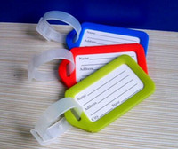 Wholesale Coloured Luggage Tag Address Holder Secure ID Label Travel Suitcase Plastic Name Identifier Card Key