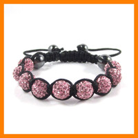 Adult Shamballa Crystal Bracelets 10 pcs lot