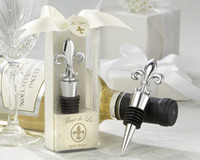 Fleur de Lis Wine Bottle Stopper Pourer wine Plug wedding Fa...