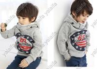 Wholesale piece boy fleece thickening long sleeve Hoodies Sweatshirts children coat NANTONGR005