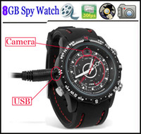 Wholesale Spy watch camera gb CCTV Waterproof video Record fps hidden mini DVR Fast ship
