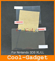 Wholesale LCD Screen Protector Film Guard Shield Cover for Nintendo DS XL LL no retail package MSP506